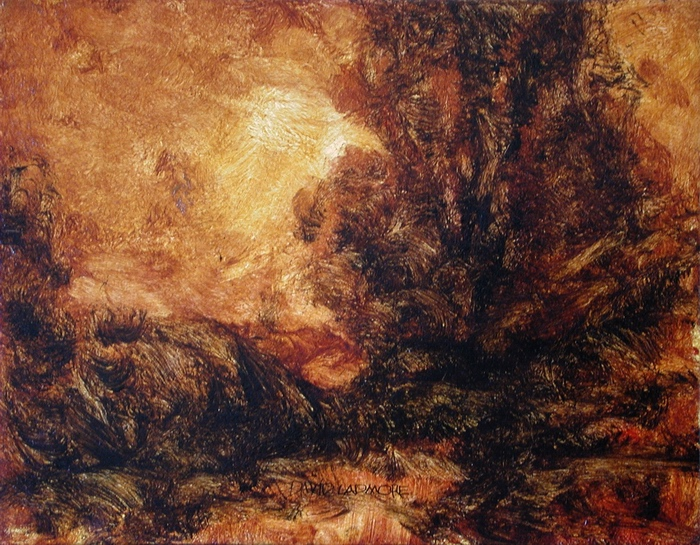 image of landscape oil painting Warm Earth 59 by David Ladmore