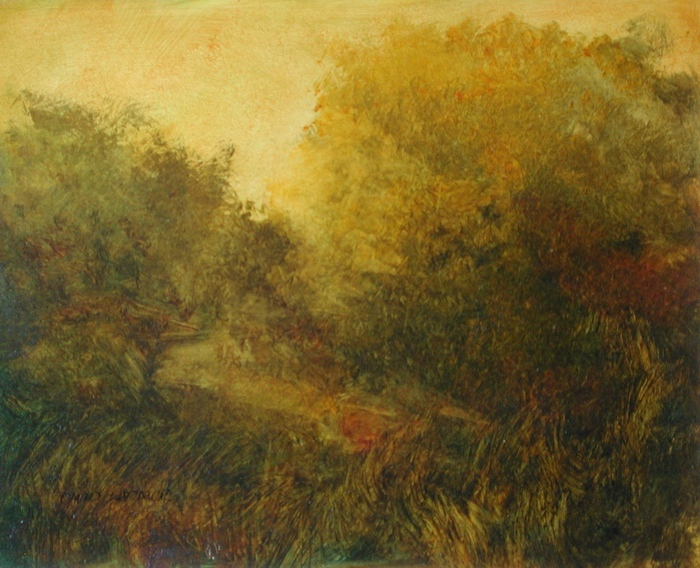 image of landscape oil painting Warm Earth 60 by David Ladmore