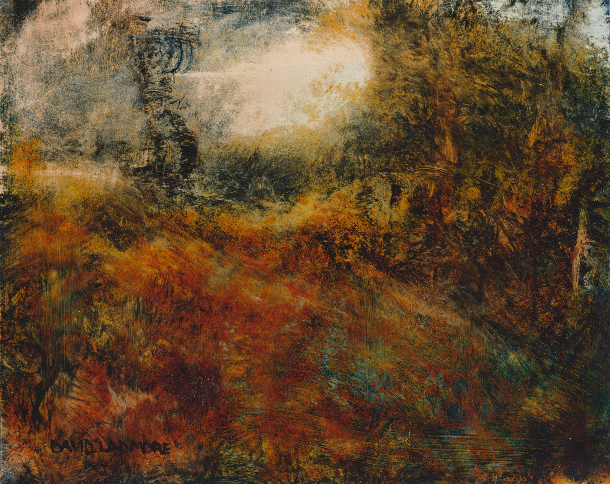 image of landscape oil painting Warm Earth 70 by David Ladmore