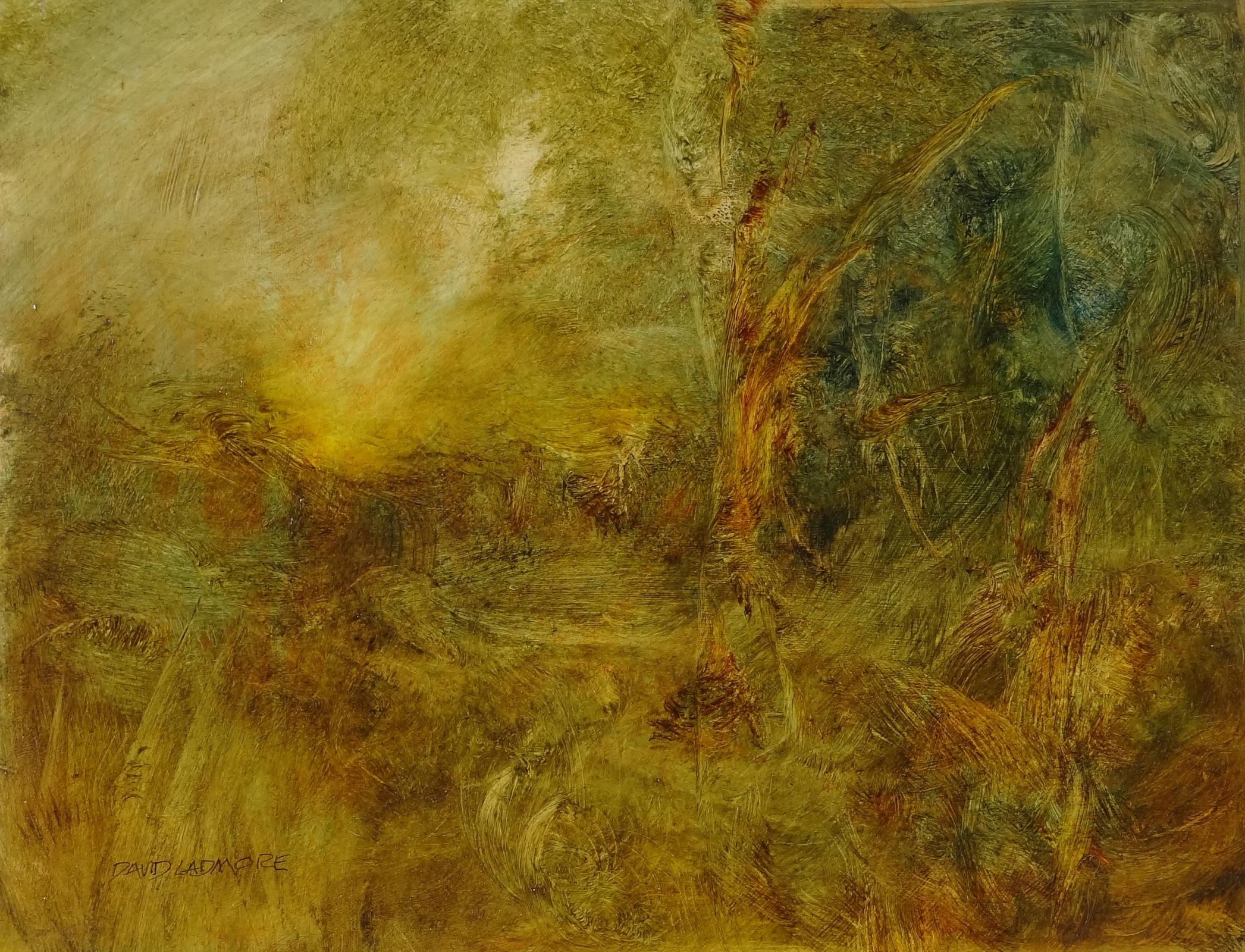 image of landscape oil painting Warm Earth 72 by David Ladmore