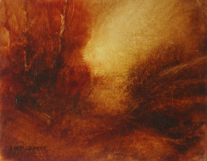 image of landscape oil painting Warm Earth 42 by David Ladmore