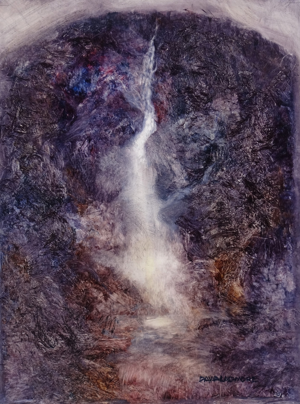 image of landscape oil painting Waterfall 3 by David Ladmore