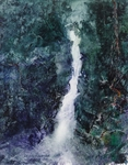 image of oil painting Waterfall 4 by David Ladmore