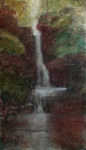 image of watercolor landscape painting Waterfall #4 by David Ladmore