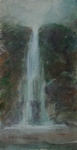 image of watercolor landscape painting Waterfall #3 by David Ladmore