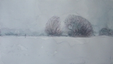 image of watercolor landscape painting Winter #1 by David Ladmore