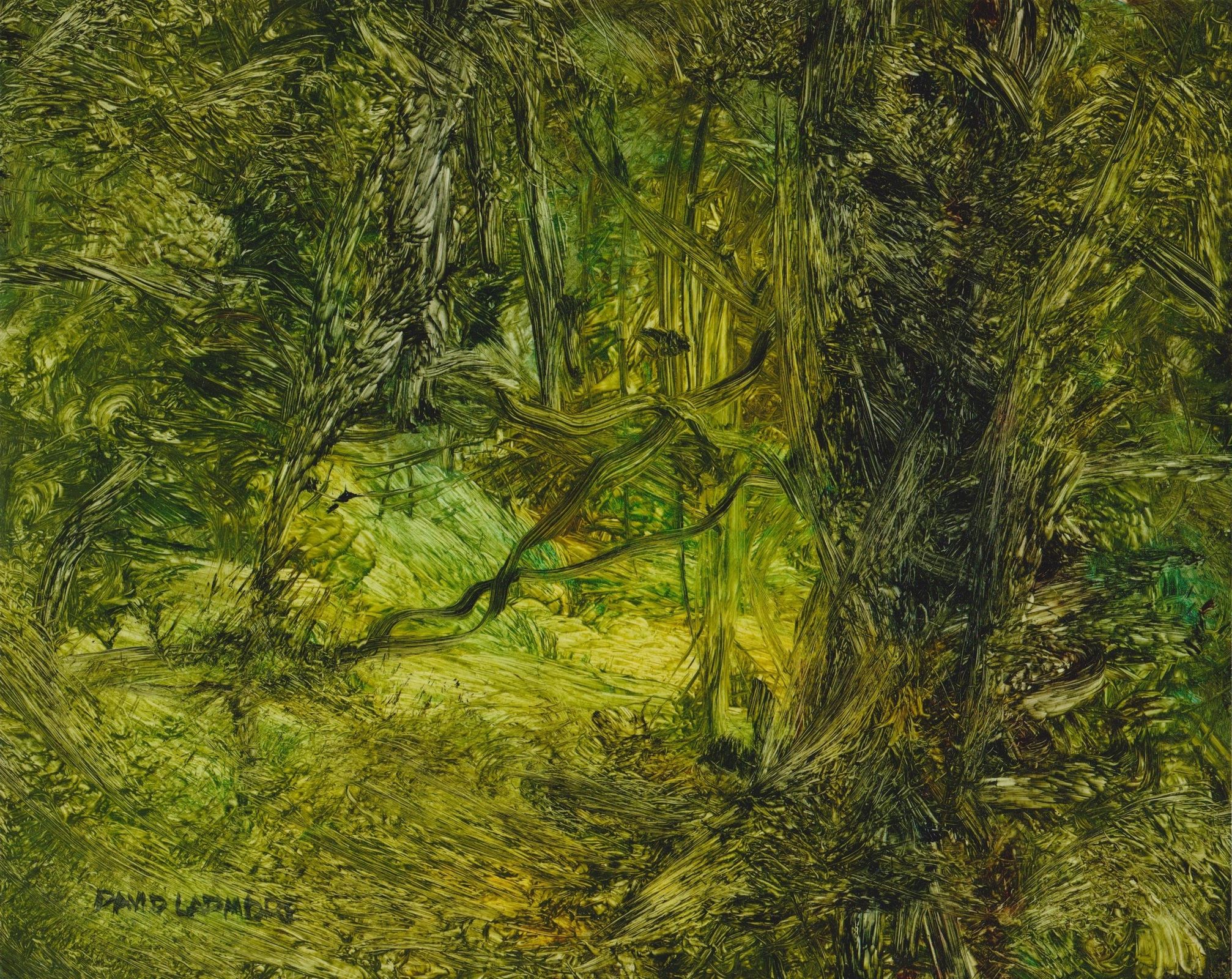 image of landscape oil painting Woodlands 102 by David Ladmore
