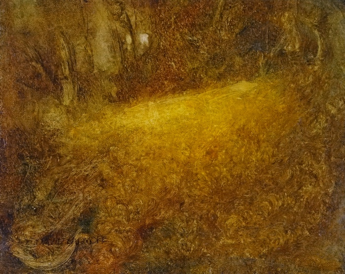 image of landscape oil painting Woodlands 36 by David Ladmore