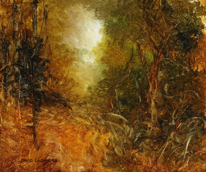 image of landscape oil painting Woodlands 47 by David Ladmore