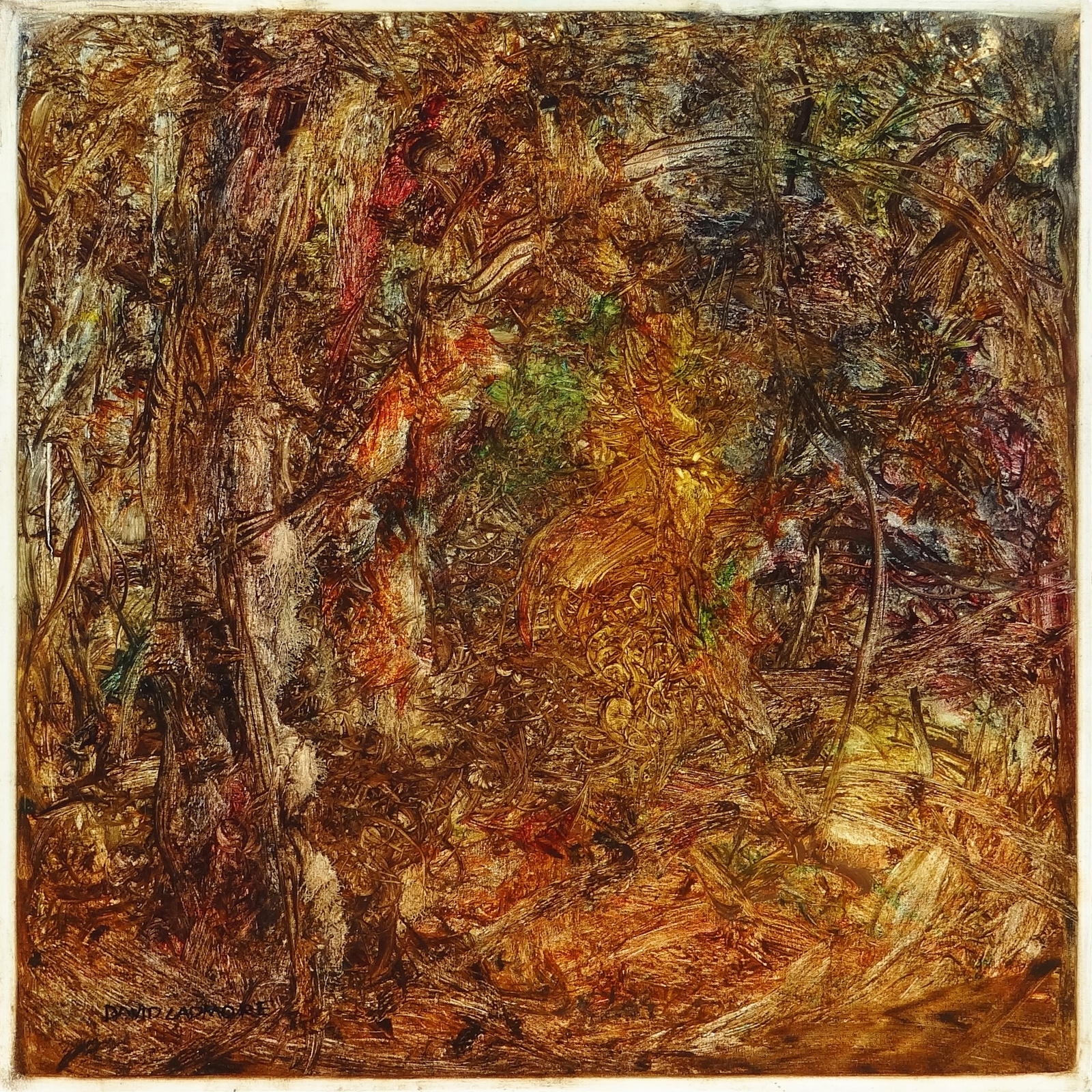 image of landscape oil painting Woodlands 49 by David Ladmore