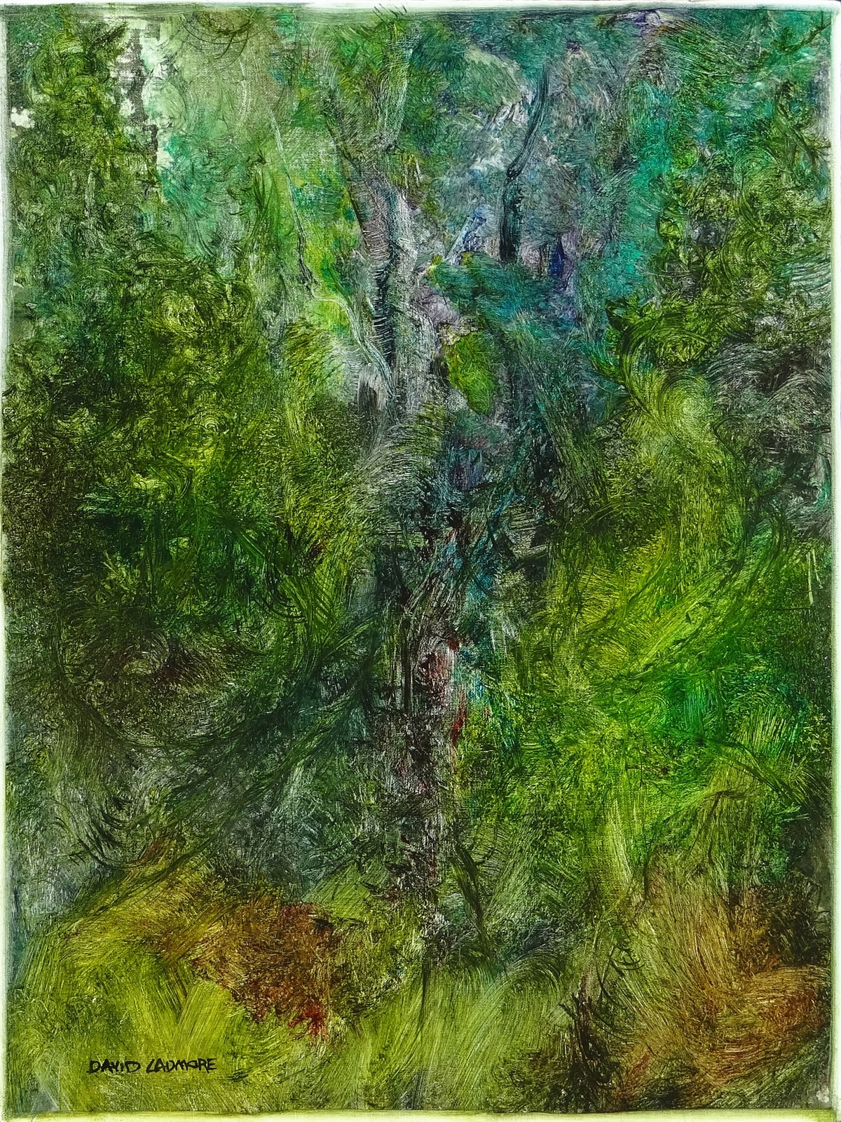 image of landscape oil painting Woodlands 53 by David Ladmore