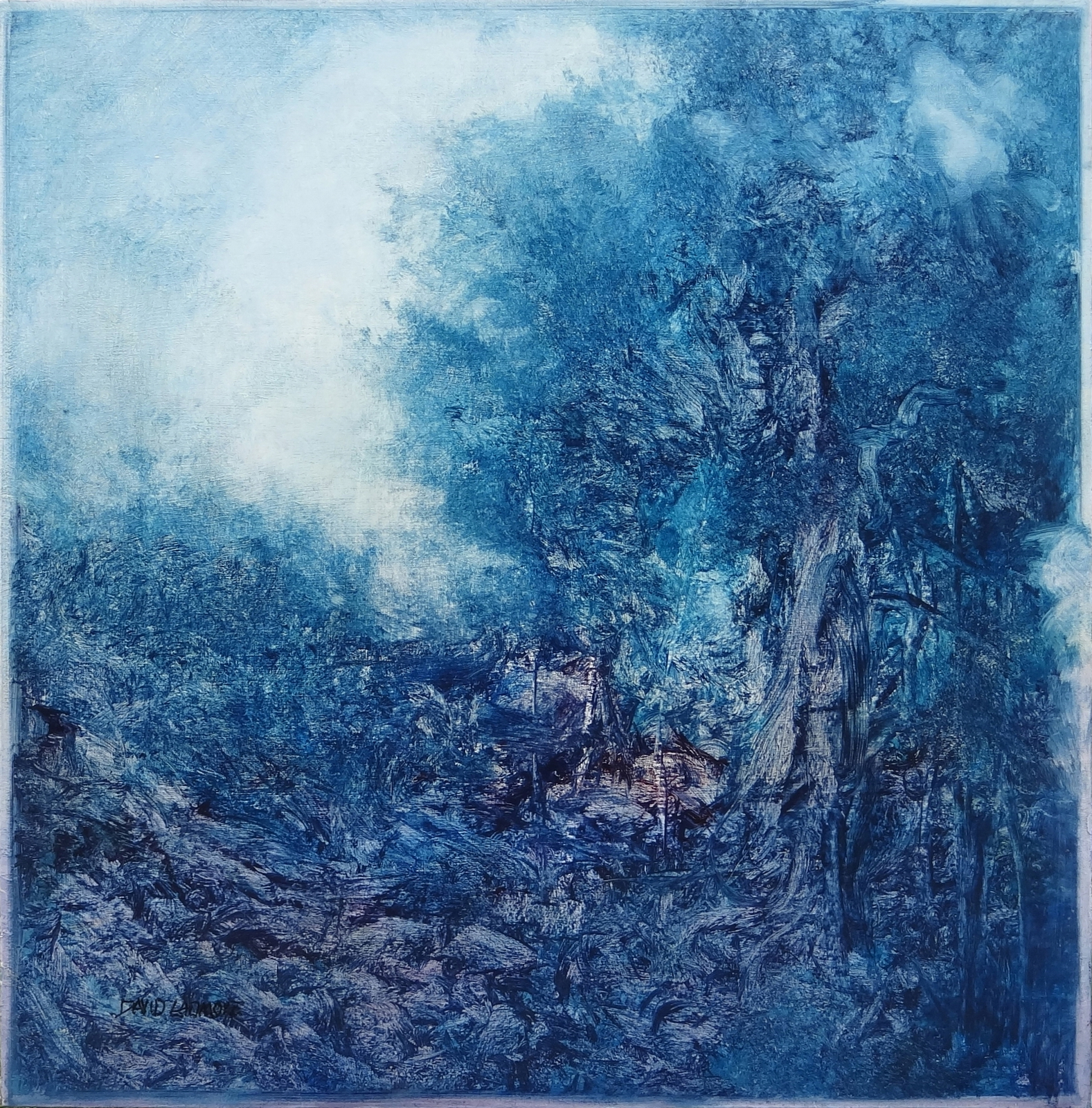 image of landscape oil painting Woodlands 57 by David Ladmore