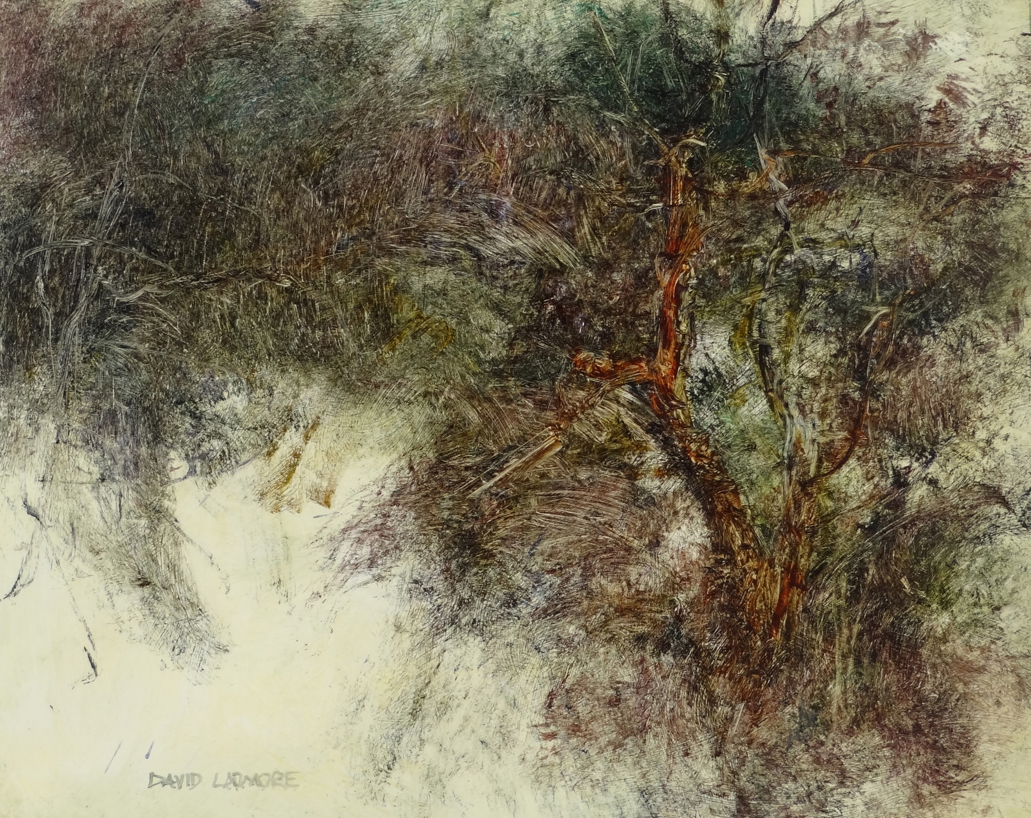 image of landscape oil painting Woodlands 87 by David Ladmore