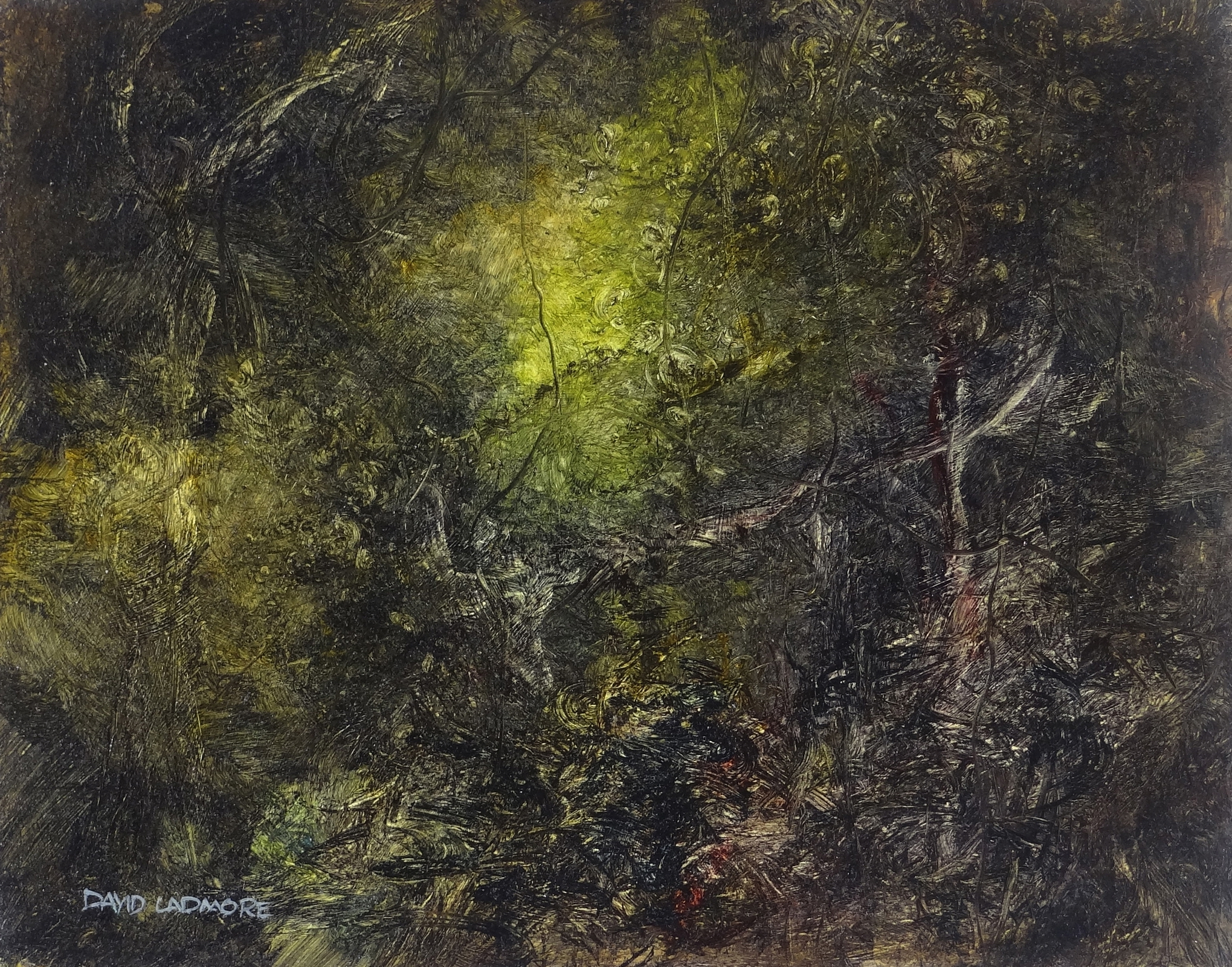 image of landscape oil painting Woodlands 89 by David Ladmore
