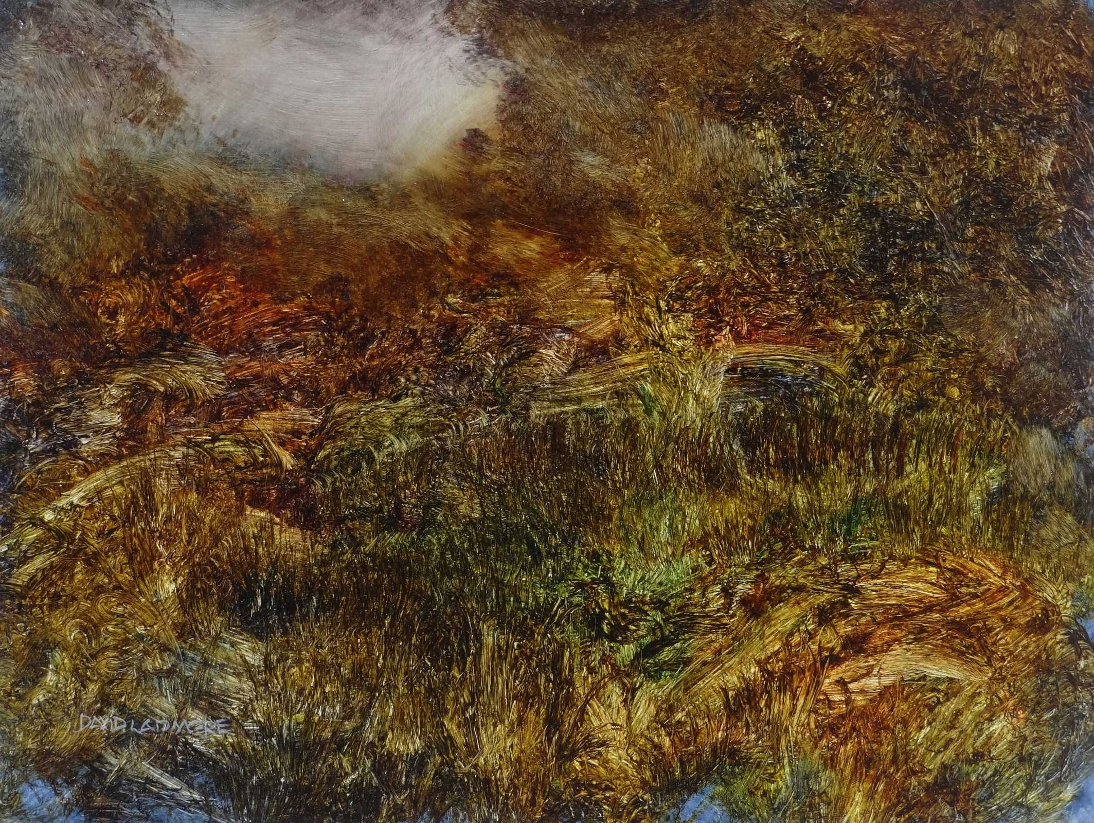 image of landscape oil painting Woodlands 93 by David Ladmore