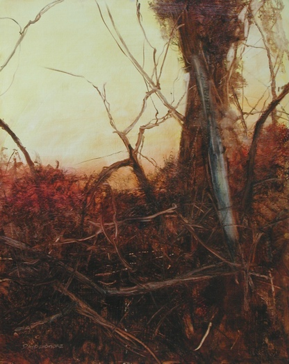 image of landscape oil painting Woodlands 11 by David Ladmore