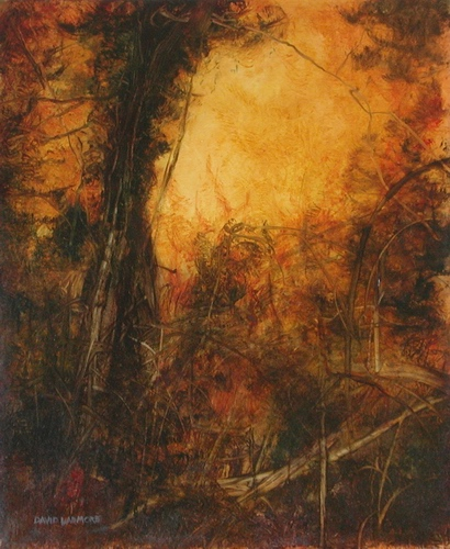 image of landscape oil painting Woodlands 14 by David Ladmore