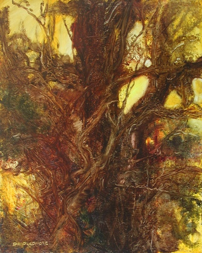 image of landscape oil painting Woodlands 7 by David Ladmore