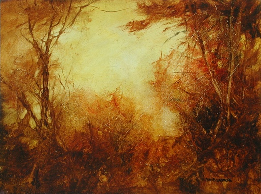 image of landscape oil painting Woodlands 31 by David Ladmore