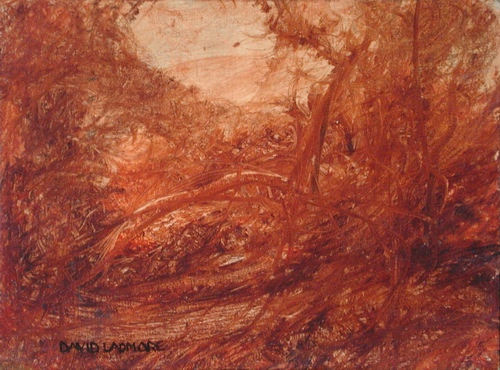 image of landscape oil painting Woodlands 23 by David Ladmore